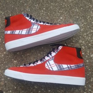 Nike x Ben Simmons Blazer Plaid Red Sneakers 12